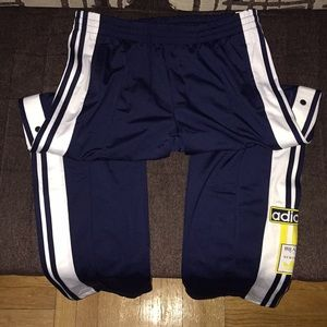 Men's BNWT adidas track sweat pants side buttons